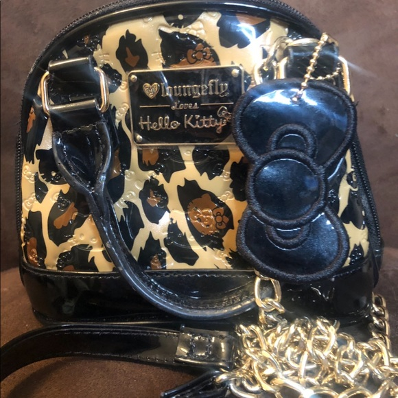 9bc6ec4f7 Hello Kitty Bags | Nwot Mini Domed Bag Leopard Patent | Poshmark